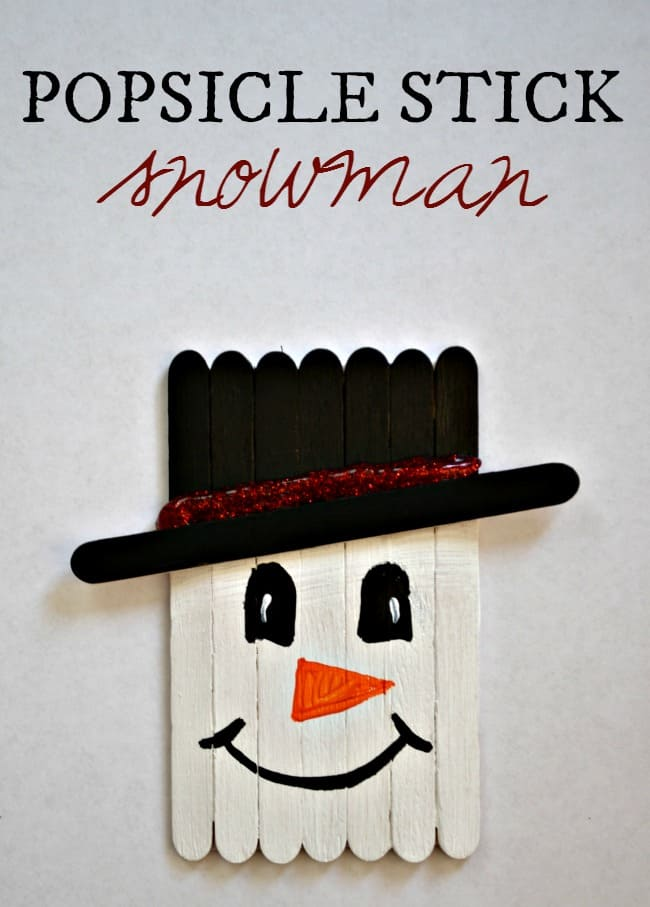 This popsicle stick snowman craft is a perfect holiday time activity for the kids. It can be turned into a cute magnet to hang on the fridge or an ornament for the tree.