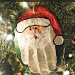Hand Print Santa Salt Dough Ornament