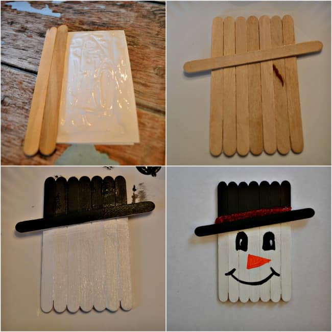 Popsicle Stick Snowman Craft