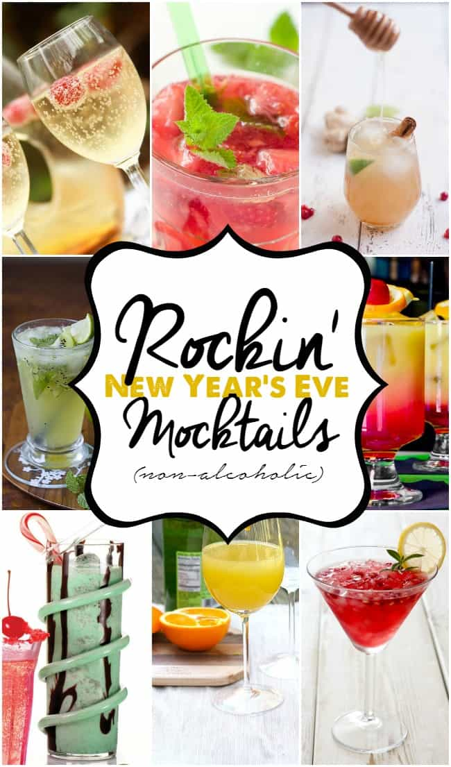 Rockin' New Year's Eve Mocktails (non-alcoholic) drinks