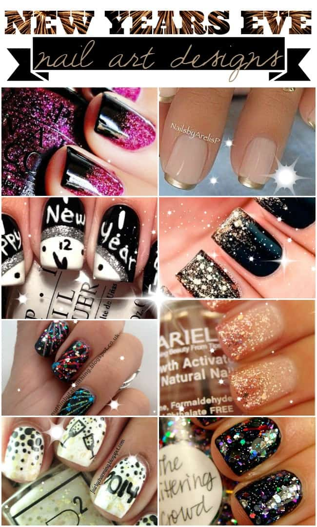 Stunning nail art looks perfect for New Year\'s Eve!