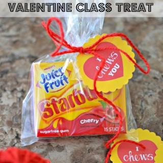 """I """"CHEWS"""" You Valentine's Day Classmate Treat"""