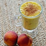 Mango Peach Protein Smoothie: Perfect pre and post workout snack!