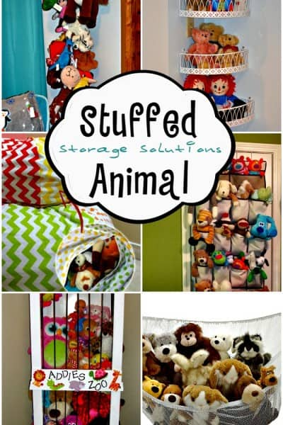 Stuffed animal storage ideas!