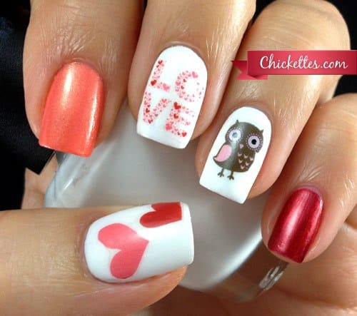 #ValentinesNails #ValentinesDay #NailArt #ValentinesNailDesigns