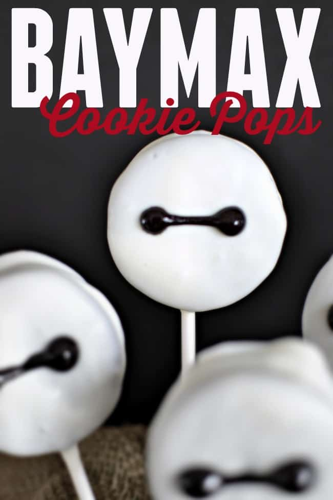 Big Hero 6 Baymax inspired Cookie Pops. A fun and delicious treat for the whole family.
