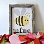 """How cute is this """"Bee"""" Mine printable? Love this and you can't beat free!"""