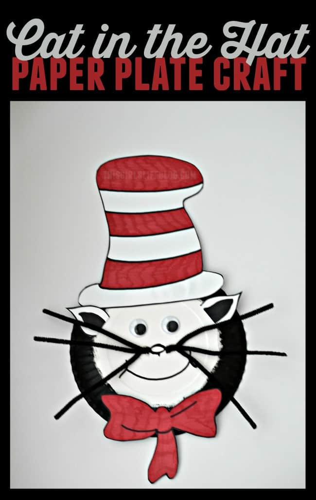 This paper plate Cat in the Hat craft is easy for little hands and a perfect way to celebrate Dr. Seuss Day.