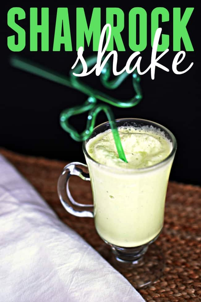 This homemade shamrock shake recipe is a tasty spin on the minty green milkshake from McDonald's just in time for St. Patrick's Day.