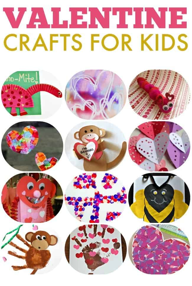 Valentine's Day is a great excuse for a craft session with the kids. These Valentine's Day crafts for kids are perfect to celebrate the sweetest time of the year. #CraftsforKids #ValentinesDay #ValentineCrafts #ValentinesCraftsforKids