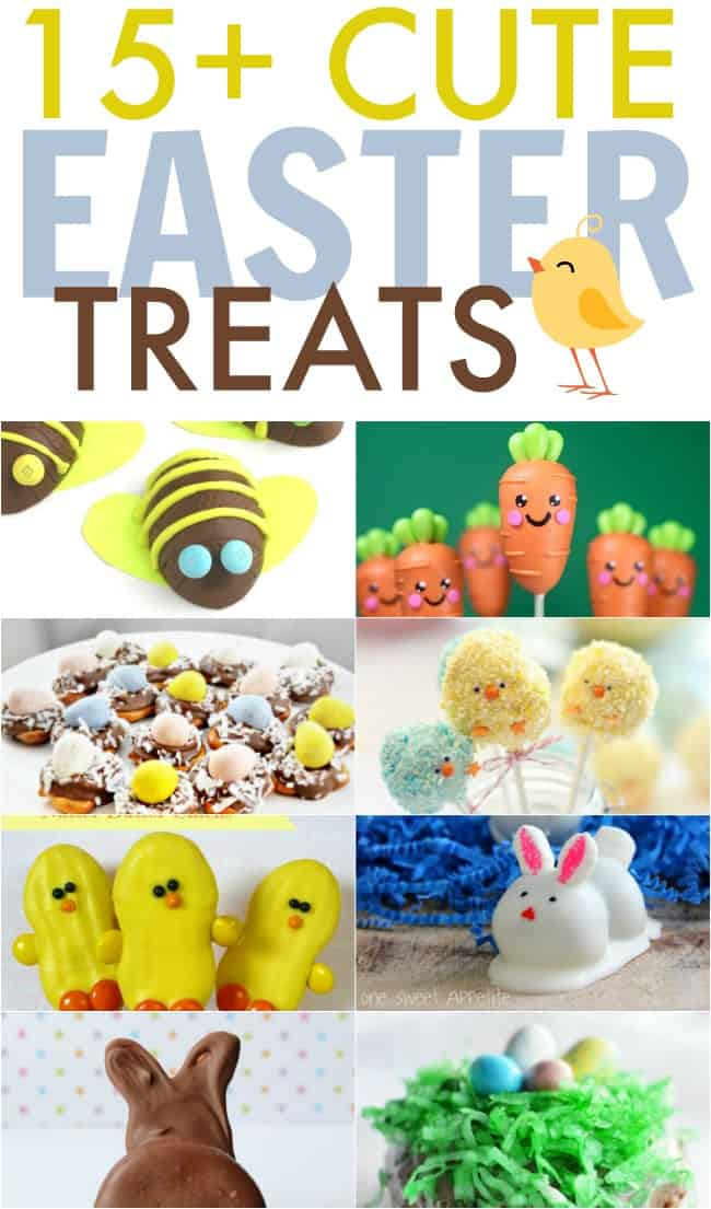 Bake up something fun and delicious with these cute Easter treats including nests, bunnies, chicks, carrots and lots more.