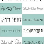 Looking for some free Easter and Spring fonts for your upcoming projects? Check out these guys!