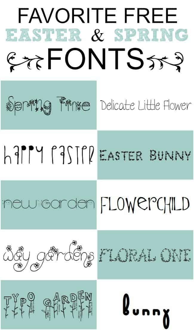 Free Easter and Spring Fonts