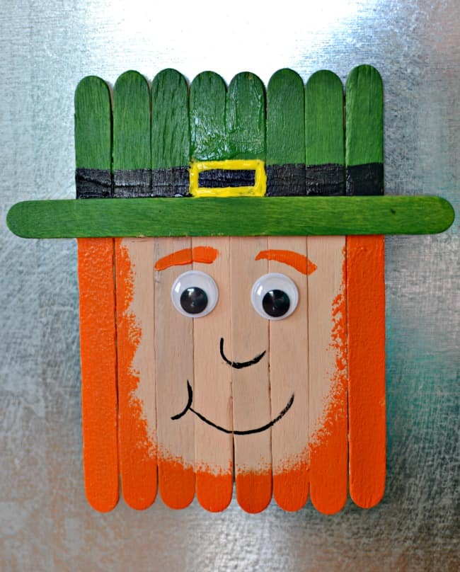 Popsicle stick leprechaun magnet this girl 39 s life blog for Popsicle sticks arts and crafts ideas