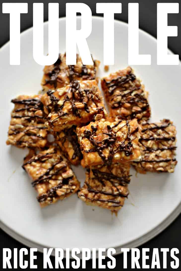 Take your favorite treat from childhood and turn it into something a little more decadent with this turtle rice krispies treats recipe.