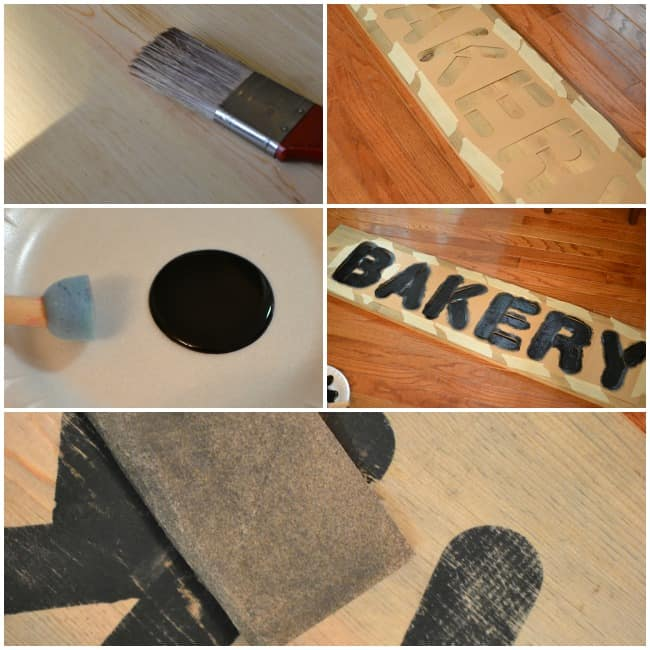 How to create vintage signs using stencils and some homemade stain. This project is easy and inexpensive at only around $20 to make.
