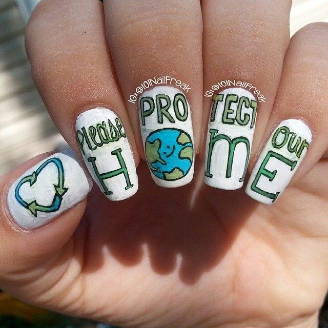 Earth Day Nail Art Designs