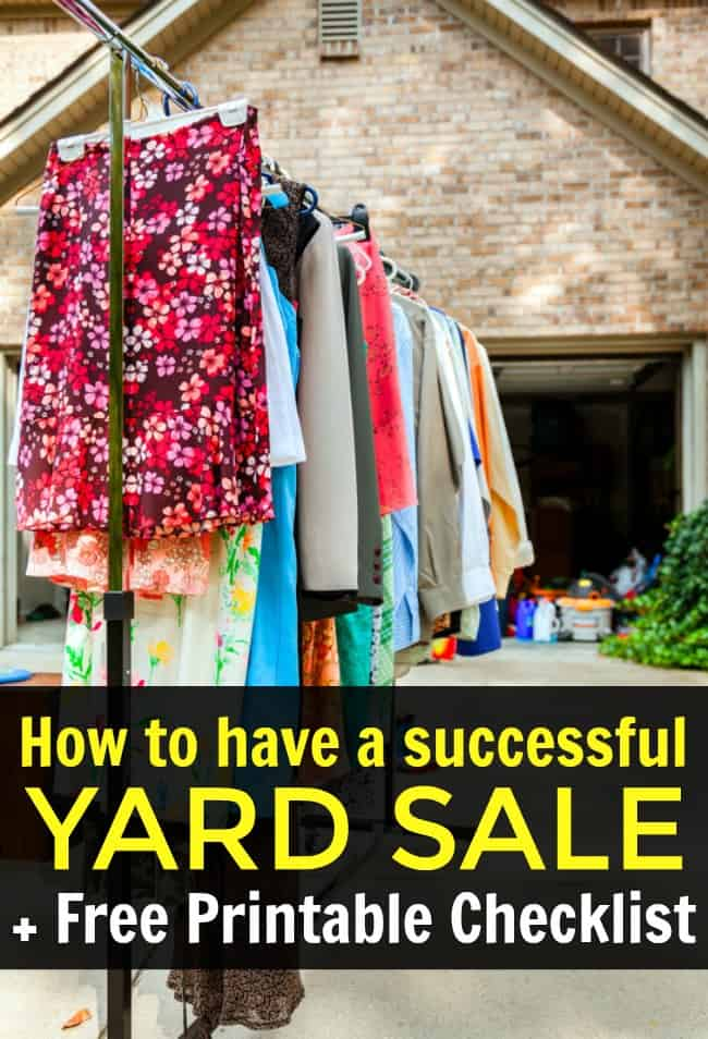 Looking to clear out your closet and make some extra cash? Here are my best tips on how to have a successful yard sale and tricks to help guide you to that success. Covering everything from how to price your items to how to handle those early birds shoppers. A great read to have before you have your yard sale in order to make the most money possible. #YardSaleTips #YardSale #GarageSale