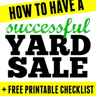 Check out these awesome tips to have a successful yard sale. If you are planning one you don't want to miss this post.