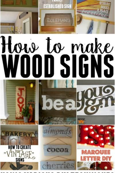 How to make wood signs!
