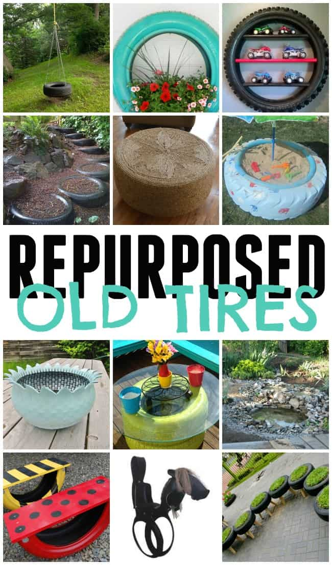 Check out these awesome ways you can turn these repurposed old tires into something fabulous, pretty and new. Reduce, Reuse, Recycle!!
