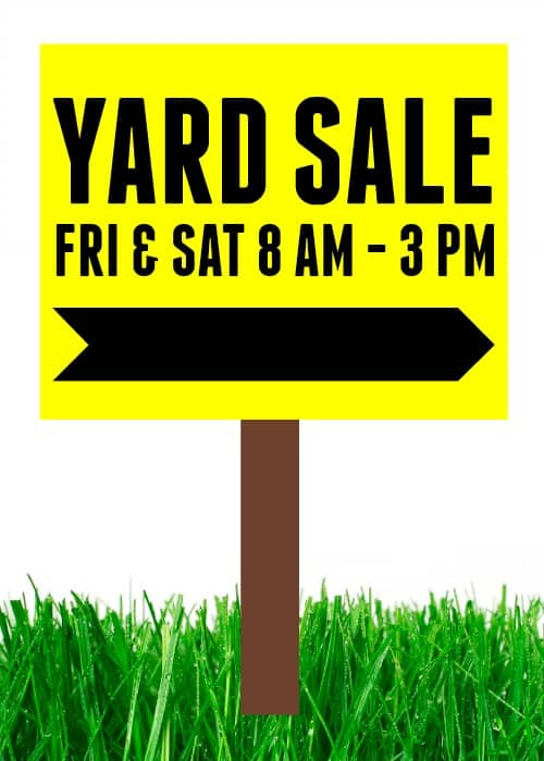 How to have a successful yard sale! + Free Printable Checklist