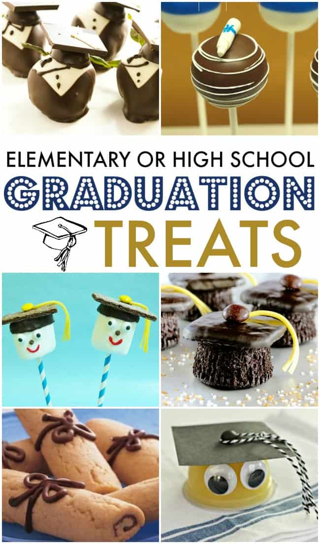 Celebrate your lil grad or big grad with some of these yummy treats.