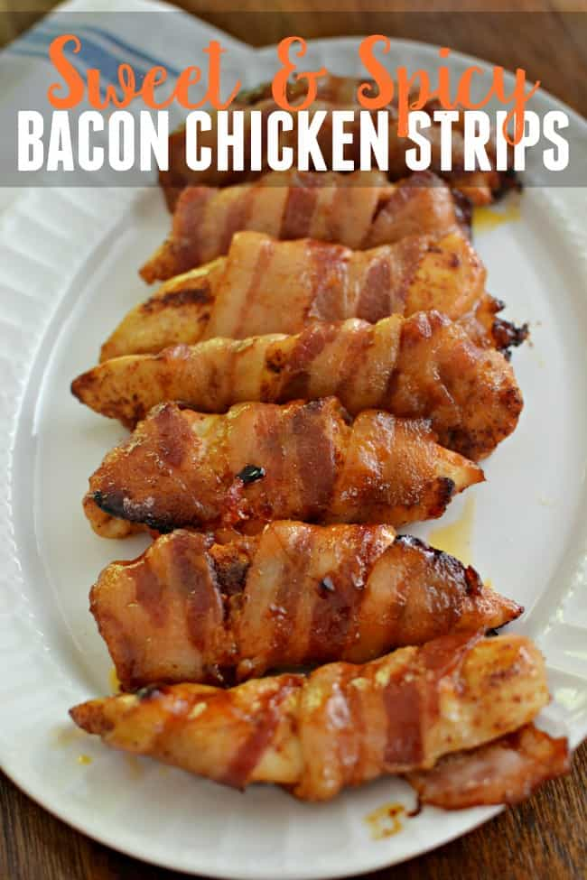 Sweet and Spicy Bacon Chicken Strips - This Girl's Life Blog