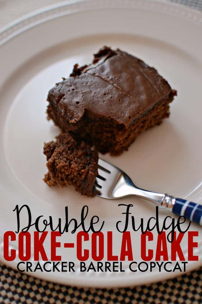 This rich, double chocolate coca cola cake made with real Coca-Cola is everything you want in a chocolate cake.