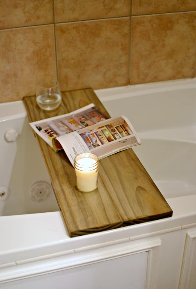 DIY Bathtub Table / Shelf