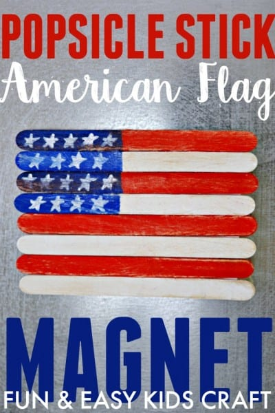 Popsicle Stick American Flag Magnet Craft