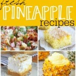 If you are a fan of pineapple then you will definitely want to check out some of these fresh pineapple recipes. Delicious ones for dinner and dessert!