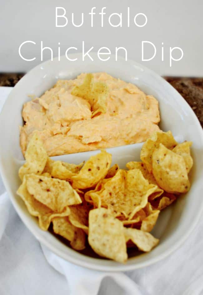 This buffalo chicken dip is the perfect appetizer for game night.