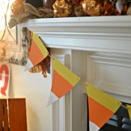 Love this super simple to make $1 candy corn banner.