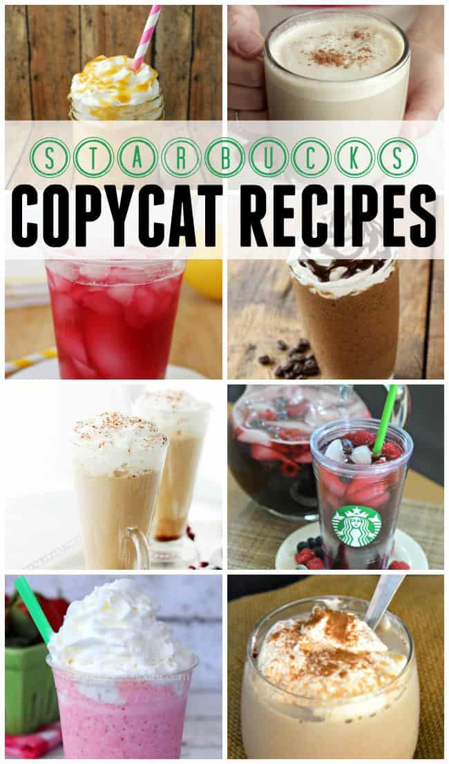 Starbucks copycat recipes, why hit up the expensive cafe when you can have all of these yummy beverages made right at home.