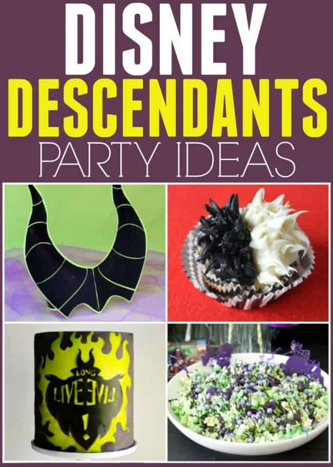 Throw the perfect evil villains party with these awesome Disney Descendants party ideas for food and crafts. Live Long and Evil!