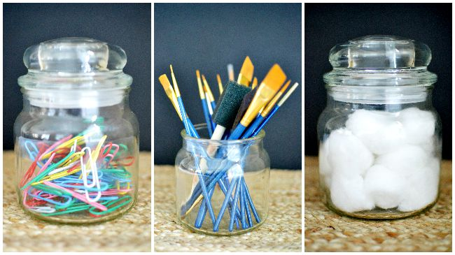 Great ways to recycle old candle jars.