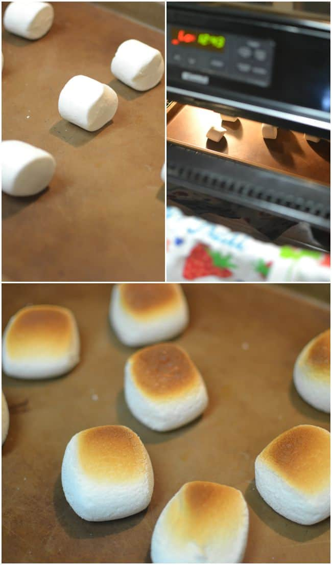 Super simple way to have toasted marshmallows without the fire pit.