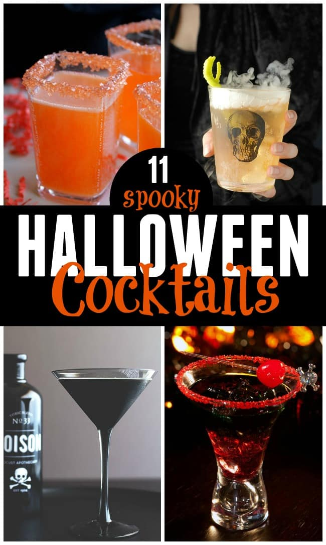 These spooky Halloween cocktails are perfect for when you are hosting a frightfully fun adult Halloween party. Serve up some of these tasty sips and your party will be a definite success.