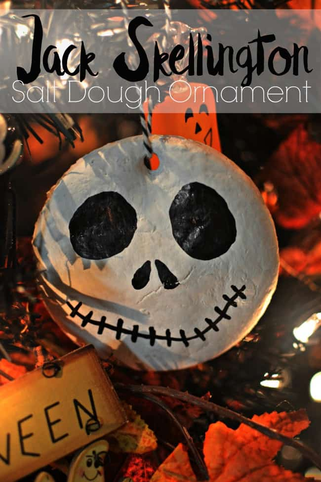 If you love Nightmare Before Christmas and Jack Skellington this craft is perfect for you. Awesome for my Halloween tree or just to hang around the house.