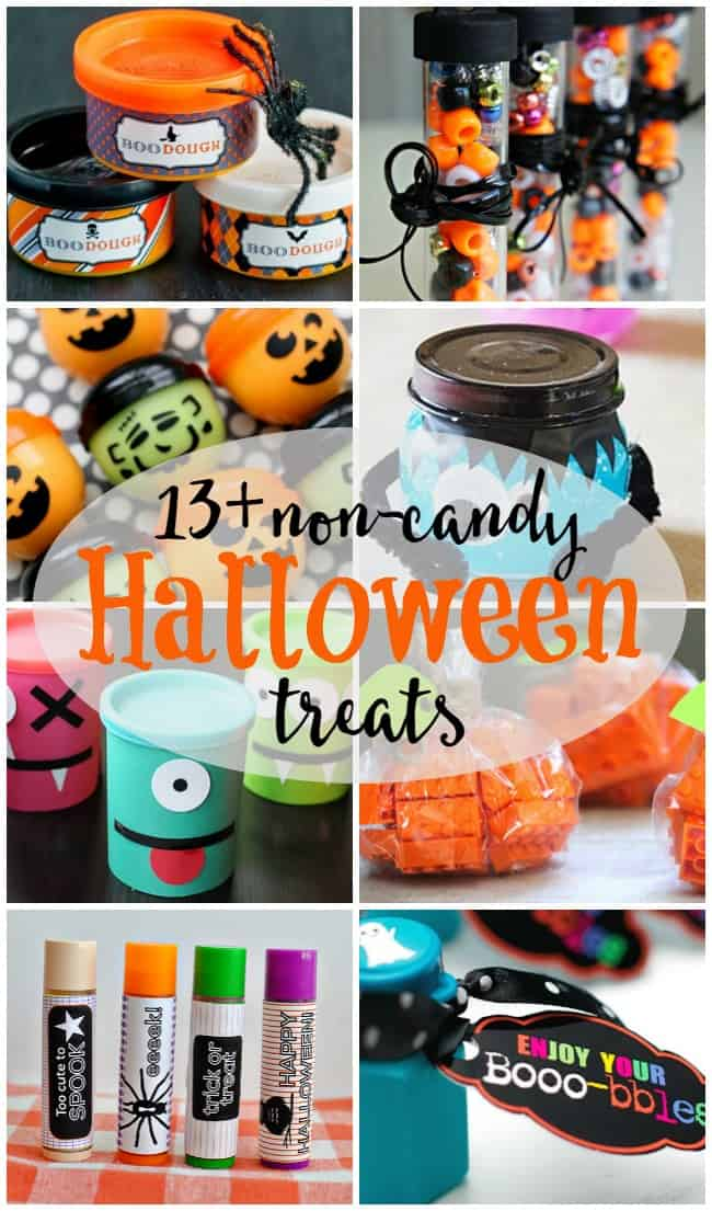 Don't get stuck handing out just candy to trick-or-treaters, check out these awesome non-candy Halloween treats. Great for classroom ideas too.