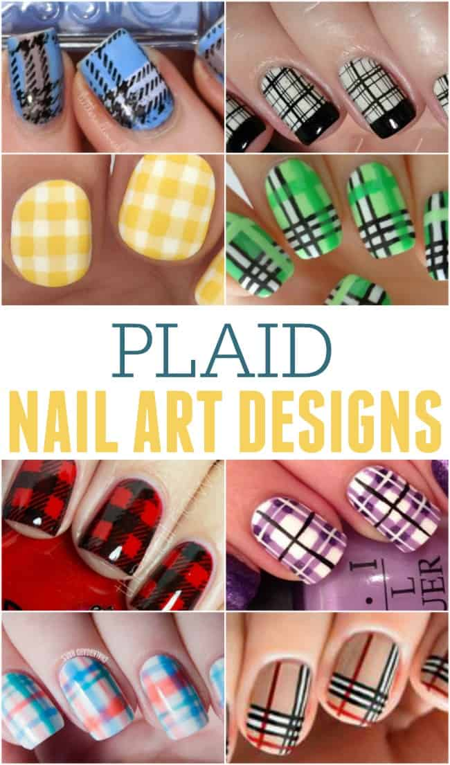 Learn how to create fun plaid nail art designs with one of these great tutorials. All easy enough for the beginner nail artist.
