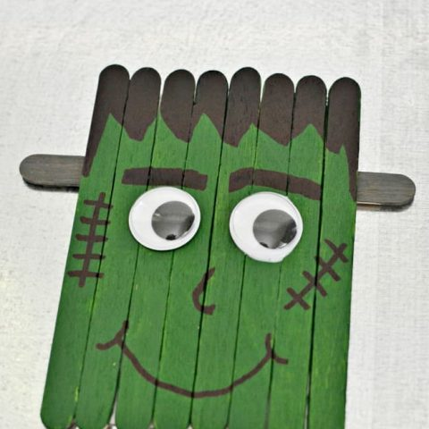 Popsicle Stick Frankenstein Craft