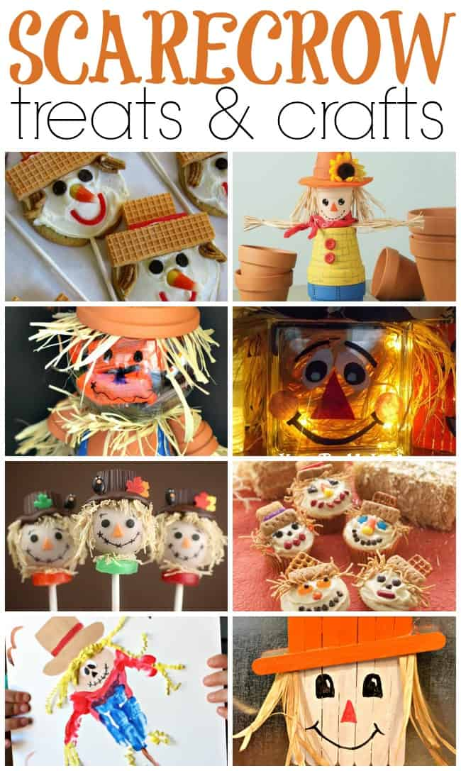 Scarecrows are synonymous with autumn. If you are planning to make some fall crafts or treats then you for sure need to include some of these cuties. #Halloween #Scarecrows #Scarecrowtreats #ScarecrowCrafts #crafts #treats