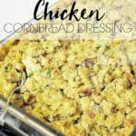 This chicken cornbread dressing is the best and only dressing you need for the holidays. It is moist and delicious and makes the perfect side dish.