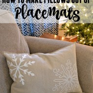 How to make pillows out of placemats.