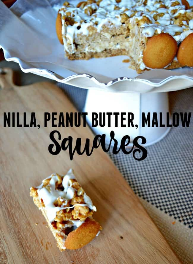 These delicious treats filled with Nilla wafer, peanut buttery, marshmallow goodness. You will definitely want this at your next holiday party.
