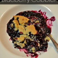 Quick and Easy Blueberry Cobbler