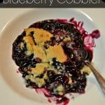 All you need to rock this blueberry cobbler recipe is 3 easy ingredients. The crust is buttery and just plain yum!