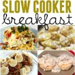 Friends and family gathering for the holidays? If you are feeding a crowd then you will definitely want to check out these incredible slow cooker breakfast recipes. They are perfect for feeding the early morning bunch and hearty enough to tide them over for the big meals. These slow cooker breakfast ideas are also great for a quick weekday breakfast or a Sunday brunch too.